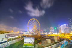 Hong Kong Ferris Wheel Royaltyfria Bilder