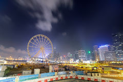 Hong Kong Ferris Wheel Fotografie Stock