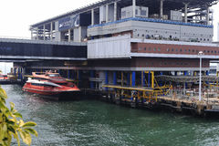 Hong kong ferry pier Royalty Free Stock Photos