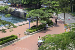 Hong kong ferry pier park Royalty Free Stock Images