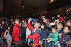 Hong Kong: Feuerwerk 2015 des Chinesischen Neujahrsfests Lizenzfreies Stockfoto