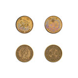 Hong Kong fifty cents coins collection Stock Image