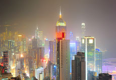 Hong Kong financial center Royalty Free Stock Photo