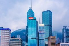Hong Kong financial district architecture Royalty Free Stock Image
