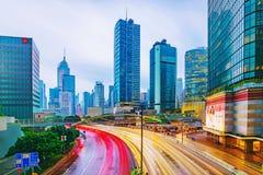 Hong Kong financial district Royalty Free Stock Photo