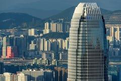 Hong Kong finanse międzynarodowi Centre Zdjęcia Stock