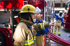Hong Kong Firefighter Royalty Free Stock Photo