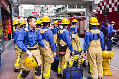 Hong Kong Firefighter Royalty Free Stock Photography