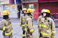 Hong Kong Firefighter Stock Image
