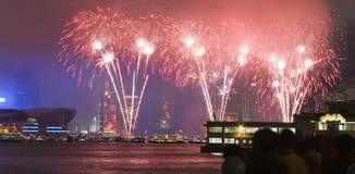 Hong kong firework Stock Images