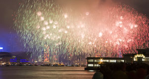 Hong kong firework Royalty Free Stock Photos