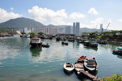 Hong Kong Fish Village Stock Photography