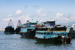 Hong Kong fishing boats Stock Image