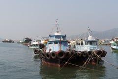 Hong Kong, Fishing Boats Stock Photos