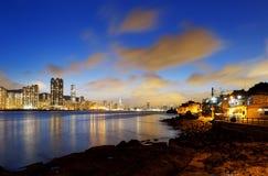 Hong Kong fishing valley at sunset Royalty Free Stock Photo