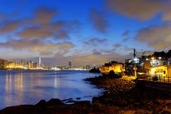 Hong Kong fishing valley at sunset Royalty Free Stock Images