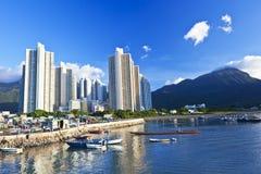 Hong Kong fishing village along the coast Royalty Free Stock Image