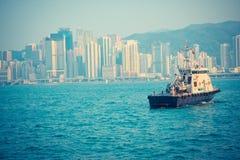 Hong Kong fjärd på dagen Fotografering för Bildbyråer