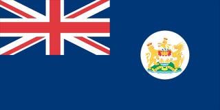 Hong Kong flag. Illustration of Hong Kong flag whilst in the British Empire Stock Images