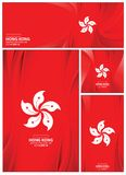 Hong Kong Flag Background abstrait Photographie stock libre de droits