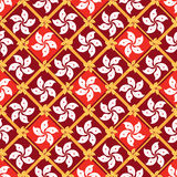 Hong Kong flag element diamond shape seamless pattern Stock Photo
