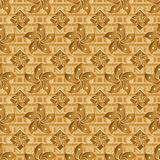 Hong Kong flag element golden seamless pattern Stock Photo