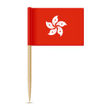 Hong Kong flag. Flag toothpick 10eps Royalty Free Stock Images