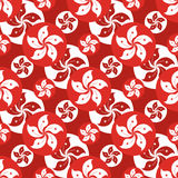 Hong Kong flag icon symmetry seamless pattern Stock Images