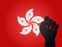 Hong Kong Flag Protest Sign Royalty Free Stock Images