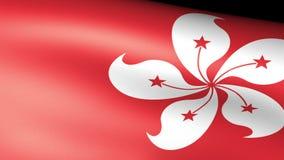 Hong Kong Flag Waving ilustración del vector