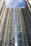 Hong Kong flats. Residential area in Hong Kong Royalty Free Stock Image