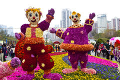 Hong Kong flower show 2013. HONG KONG, CHINA - MARCH 20: The annual Hong Kong flower show with Kaleidoscope of Spring as the theme is held at Victoria Park on stock images