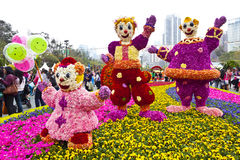 Hong Kong flower show 2013. HONG KONG, CHINA - MARCH 20: The annual Hong Kong flower show with Kaleidoscope of Spring as the theme is held at Victoria Park on stock photography
