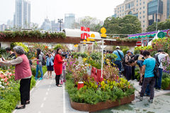 Hong Kong Flower Show. 2015 (from 20 to 29 March 2015 at Victoria Park in Causeway Bay). The  is a major event organised by the Leisure and Cultural Services Stock Photos