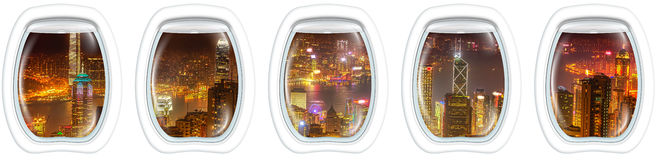 Hong Kong flyg Royaltyfri Bild