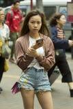 Hong Kong folk Arkivfoto