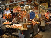 Hong Kong food Market Royalty Free Stock Photography