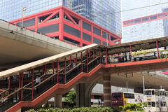 Hong kong footbridge Stock Images