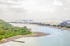 Hong Kong från över Royaltyfria Bilder