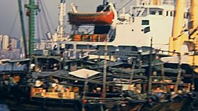 Hong Kong-Frachtschiffe stock video footage