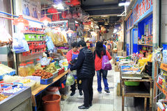 Hong Kong fresh food market Stock Photos