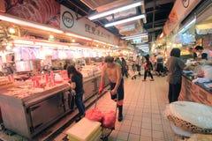 Hong Kong fresh food market Stock Photo