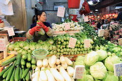 Hong Kong fresh food market Royalty Free Stock Photos
