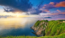 Hong Kong fyr under soluppgång Royaltyfri Bild