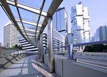 Hong Kong gångarewalkway Royaltyfri Fotografi