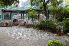 Hong Kong. The garden near the Chinese temple. Stock Image