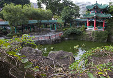 Hong Kong. The garden near the Chinese temple. Stock Photo