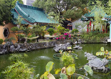 Hong Kong. Garden in the temple of Wong tai Sin. Stock Photography