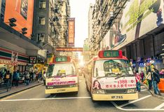 Hong Kong gator Arkivbilder