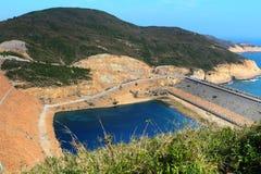 Hong Kong Geo Park , High Island Reservoir. Dam stock photos